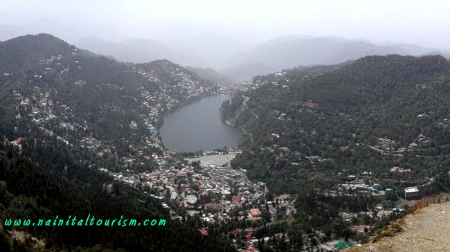 Eagles Eye View of Green Nainital City From Naina Peak - China Peak
