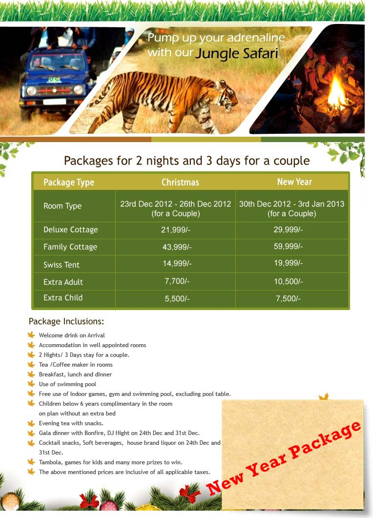 New Year's Eve Celebration Package for Corbett National Park