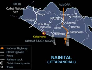 A Route Map to Nainital District