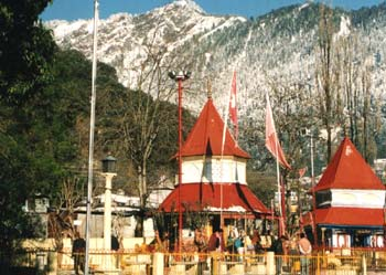 View of Naini Devi Temple and Naina Peak