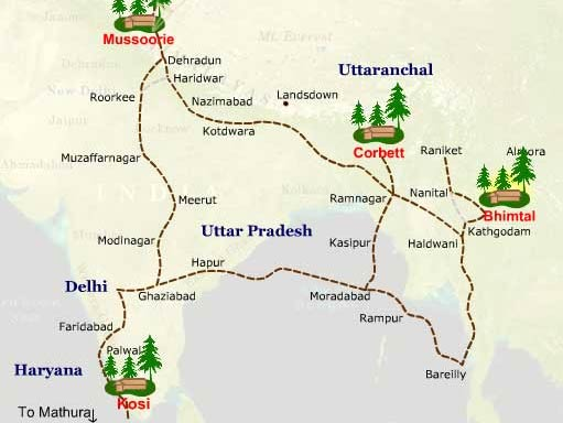 Map To Mukteshwar | Route To Mukteshwar